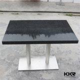 Jogo de pedra artificial da tabela de jantar do preto da mobília do restaurante
