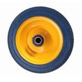 3.50-4 Vio la rueda de la espuma de la PU de la rueda de la carretilla de la mano de la pisada de los dientes