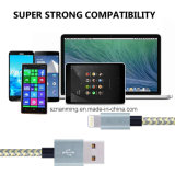 Nylon Braided кабель USB заряжателя Sync данным по молнии 8pin для iPhone