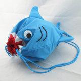 男の子の新型の鮫のドローストリングのリュックサック