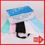 PP non tissés jetables 3ply Contour masque chirurgical avec boucles latérales et une cravate sur
