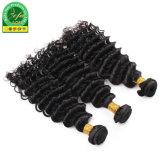 Haut de la qualité de profondes Curly vierge naturelle des Cheveux humains indiens de la trame