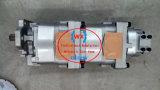 Una pompa a ingranaggi di KOMATSU della garanzia di anno 705-51-30590 per il caricatore Wa480-5-W
