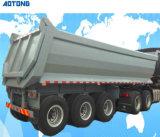 Transporte de areia semi reboque do veículo de dumping de caixa basculante