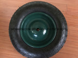 Landwirtschaftliche Hilfsmittel-haltbarer schwarzer Schubkarre-Reifen 4.00-8 mit Felge