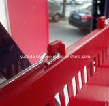 Panier à bas prix Hdpp Plastic Supermaket avec poignées en métal plaqué