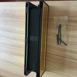 Tradinational 12 pouces, UPVC porte la plaque de boîte aux lettres/lettre polie mi chemin de fer - Gold/noir