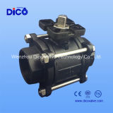 Ts Thread/Butt-Weld/Socket-Weld Wcb 3 Pieces Ball Valve with Mounting Propellent-actuated device