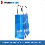 saco branco do papel de embalagem de 120g Com logotipo para a venda