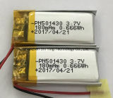 180mAh 3.7V 100mAh de polímero recargable de Li-ion para grabadora digital