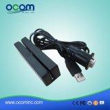 Cr1300 de 3 vias do leitor de cartão magnético USB