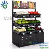 2018 Rek Op drie niveaus van de Vertoning van de Groente van het Fruit van de Supermarkt het Enige en Dubbele Zij