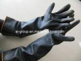 Latex noir résistant aux produits chimiques industriels (gants de caoutchouc naturel)