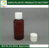 bottiglia di plastica della medicina di figura ovale dell'animale domestico 120ml