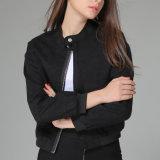 OEM 여자를 위한 새로운 유럽 작풍 검정 기관자전차 재킷