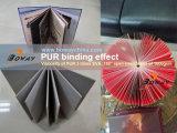 180度の開いた位置の1つの本の接着剤のつなぎに付きBookblockの縛りEVA-PUR 2つを作る平らな写真アルバム