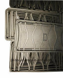 Comal asador de hierro gris Cast con recubiertos de esmalte