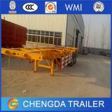 Aanhangwagen de Achter elkaar van de Chassis van de Container van het skelet met 12wheel 40ton