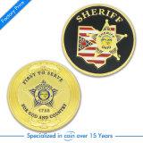 Pièce de métal plaqué or pour la Police militaire de Souvenir&&
