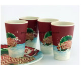 Design de Natal de fibra de bambu Copa biodegradável com Customized