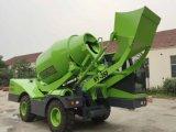 Mobile 1.5 Kubikmeter-Betonmischer-LKW mit dem Automobil, das Beton, Sand, Wasser-System wiegt