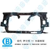 Elantra 2011 Soporte del radiador de China de fábrica de lámparas de auto partes del cuerpo para Hyundai