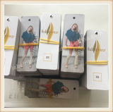 Напечатанная бирка Hang одежды бумажной одежды Hangtag одежды бирки Hang изготовленный на заказ