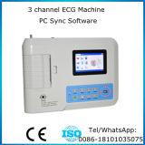 Électrocardiographe de 12 du fil 3 de la Manche ECG Digitals de machine