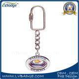 Kundenspezifische runde geformte drehen Metall Keychain/Schlüsselring/Keyholder