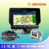 Sistema do Rearview do monitor do veículo da navegação do GPS com 2 câmeras