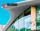 Волшебная форма строя панель фасада 4mm 0.3mm PVDF алюминиевую