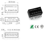 4-20mA zu 0-5V Analog Conversion Dual Isolation Converter Sy U1-P2-O4