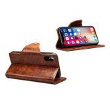 Ретро-PU мобильного телефона Wallet чехол для iPhone X-коричневый