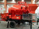 Betoniera mobile del rimorchio con la pompa con la riga d'acciaio del tubo di consegna di 100m sulla vendita