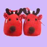 2017 Calçado de bebé suave do bebé de Natal Fawn aprender a pé calçado Soled