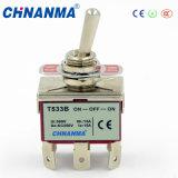 Interrupteurs à bascule à 3 pôles/ commutateur double 3 pôles jeter 12VDC/24VCC