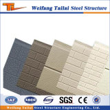 El panel decorativo material del metal de la casa prefabricada del edificio de la estructura de acero