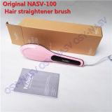 Escova do ferro do Straightener do pente do cabelo com a tela de indicador do LCD