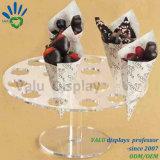Vendita calda che Wedding il basamento acrilico del supporto del cono di gelato