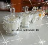 De luxe Gebemerkte Uitstekende Kaars van de Kruik van het Glas met Aangepast Deksel