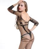 Оптовая высокая упругость плюс Fishnet Bodystocking BS8904 женское бельё размера сексуальный
