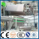 Maquinaria de la producción del papel de tejido de tocador de la velocidad 5 T/D con la cortadora de la máquina y del papel el rebobinar para la venta