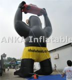 Kundenspezifische Förderung-aufblasbarer Gorilla mit Auto-Zeichen-Karikatur