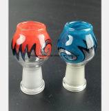 Port femelle bleu et rouge 14.5mm, garnitures en verre de conduite d'eau de 18.8mm