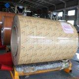 Bois de couleur en bois d'obturation du rouleau de pré-peint finition aluminium/aluminium de la bobine