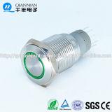 Qn16-C1 interruttore di pulsante verde dell'anello 12V LED
