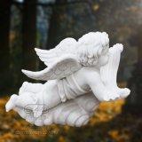 Wit Marmeren Hand Gesneden Standbeeld van Engel