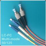 Cuerda de corrección óptica de fibra con varios modos de funcionamiento de la PC Om2 de FC-LC