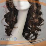 El cabello humano 100% de la peluca de silicona (PPG-L-03214)