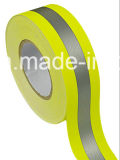 Gelbes Reflective Material Warning Fabric Tape mit En20471